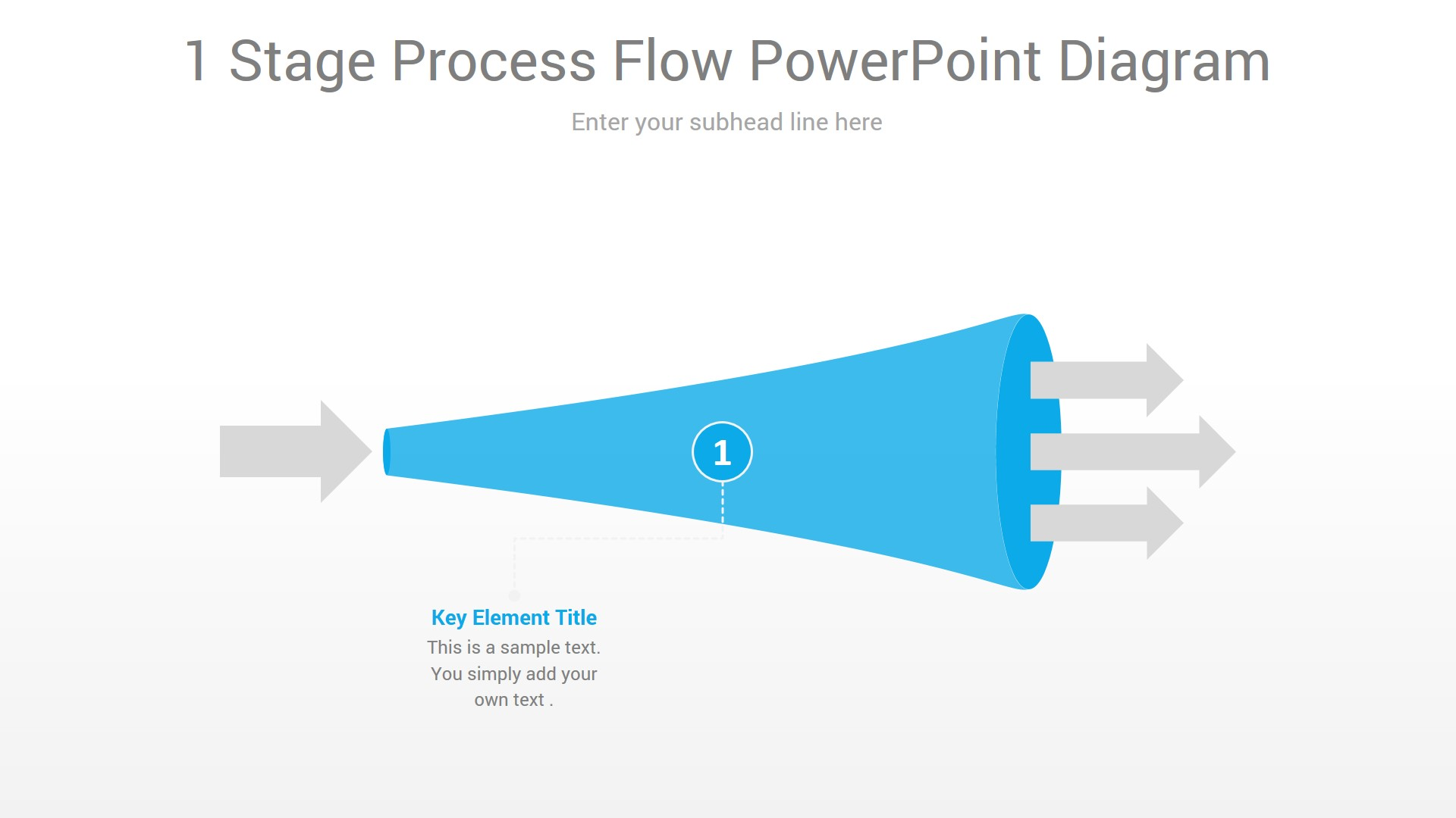 1 Stage Process Flow PowerPoint Diagram