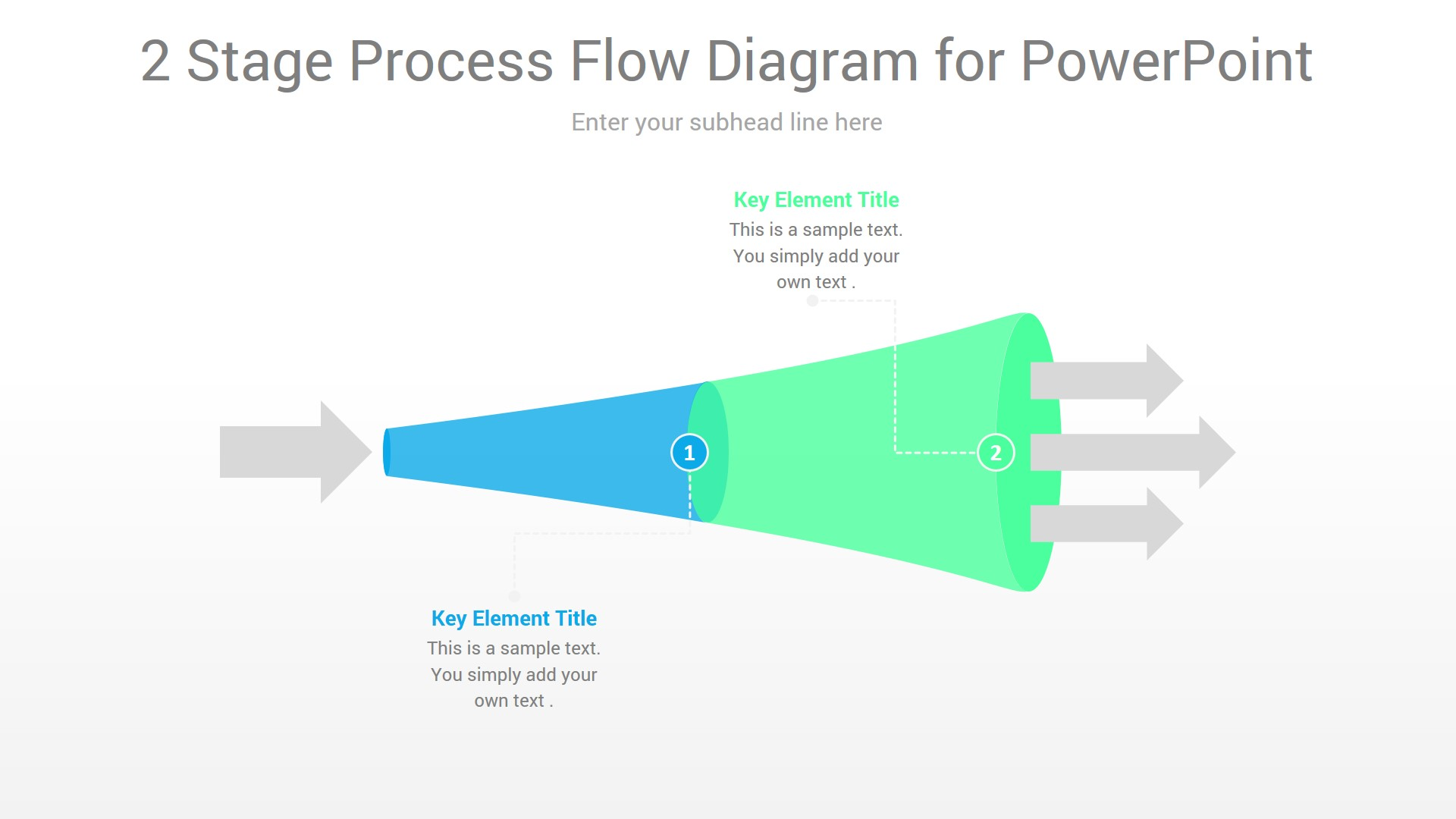 2 Stage Process Flow PowerPoint Diagram