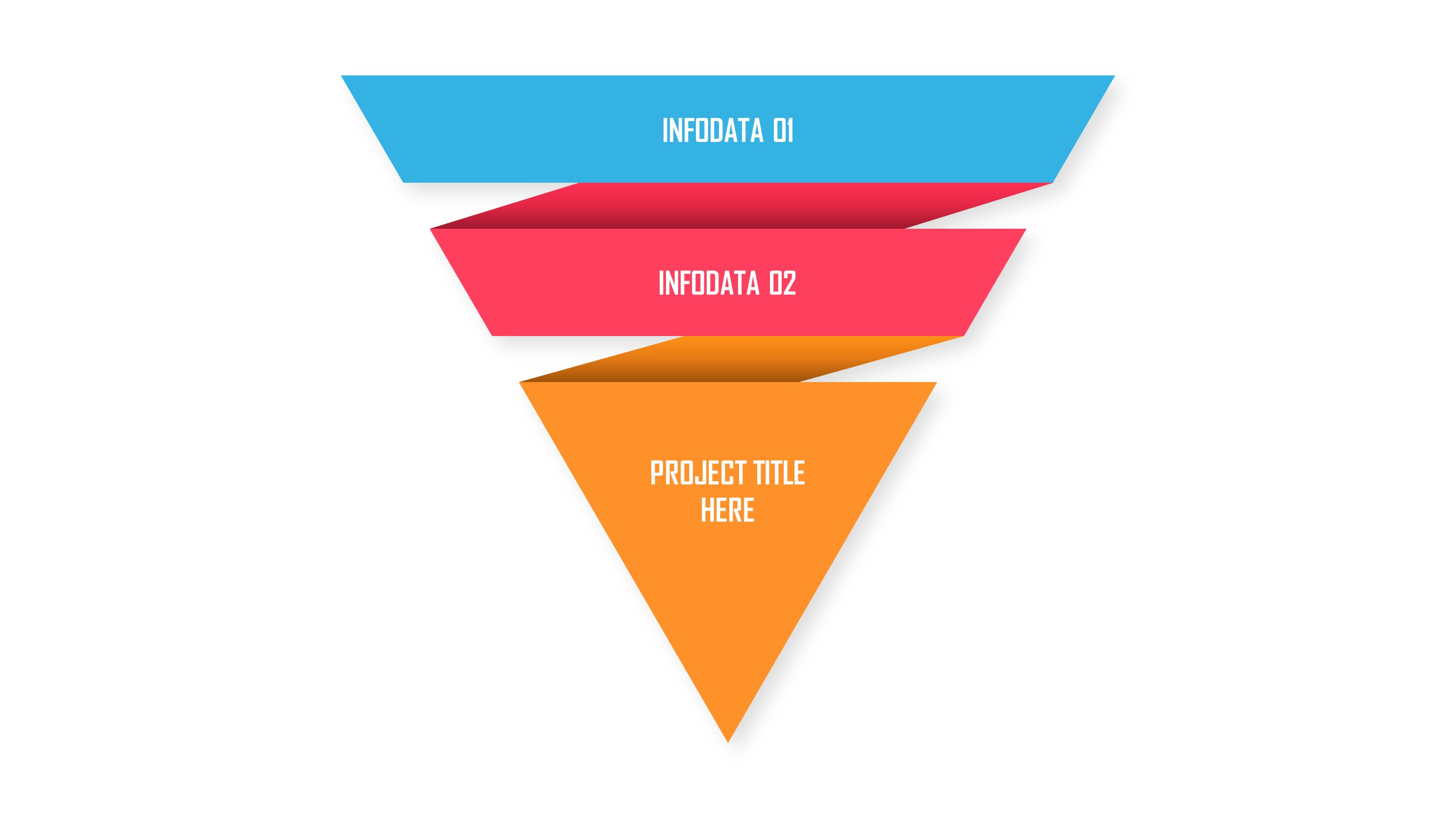3 Levels Inverted Pyramid Infographic PowerPoint Template