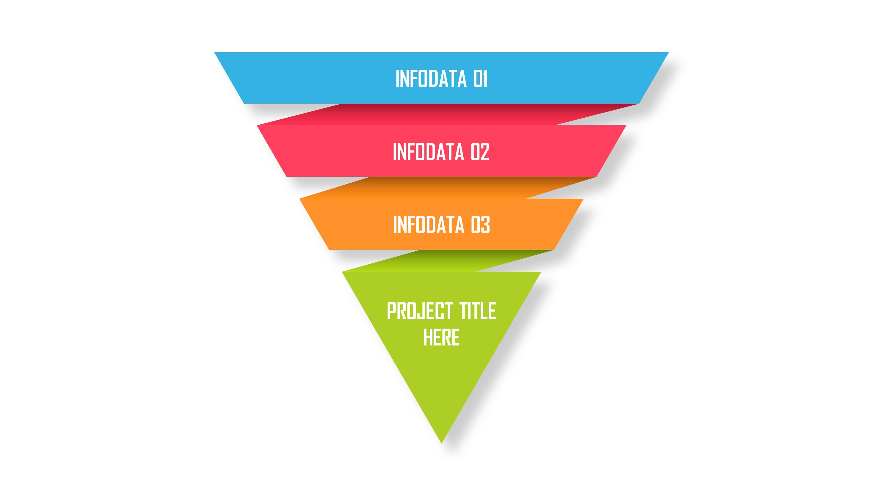 4 Levels Inverted Pyramid Infographic PowerPoint Template
