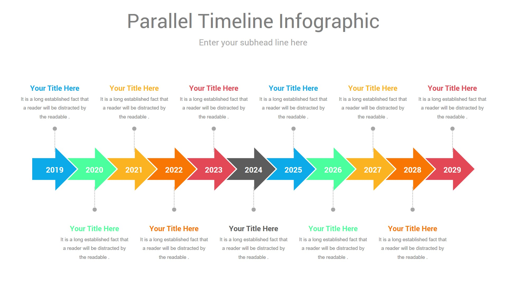 Parallel Timeline PowerPoint Infographic