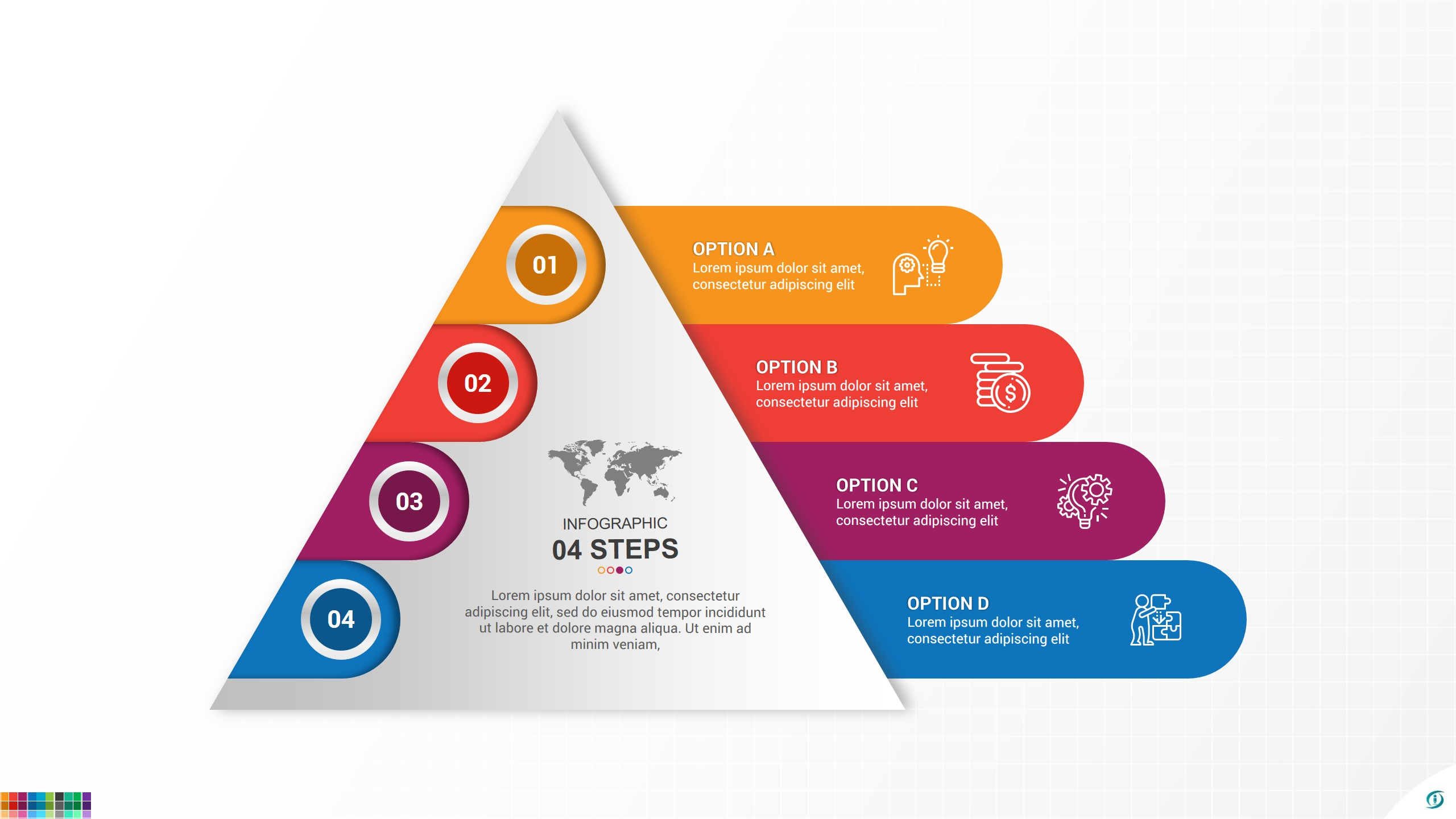 Simple Pyramid Infographic Design For PowerPoint and Google Slides