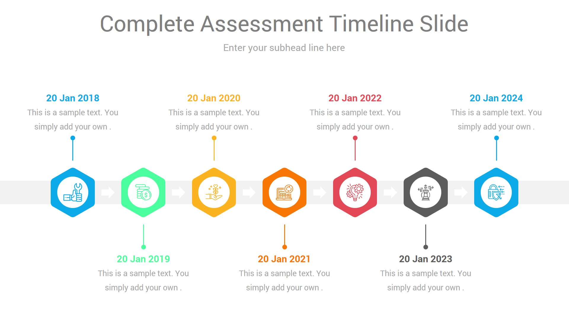 Stages  Horizontal Timeline Powerpoint Infographic