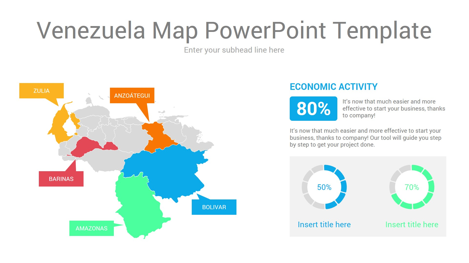Venezuela map powerpoint template