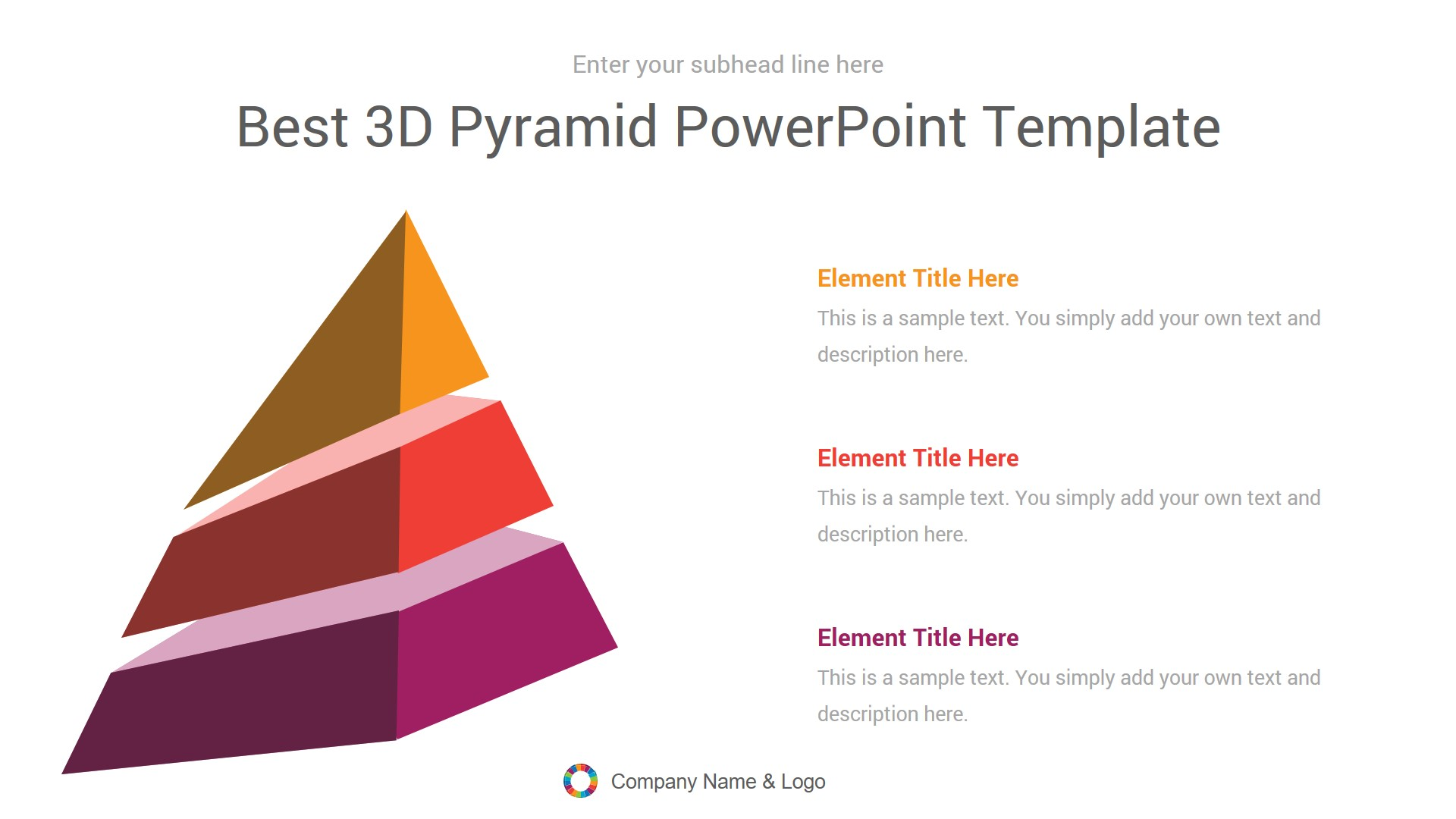 Best 3D Pyramid PowerPoint Template