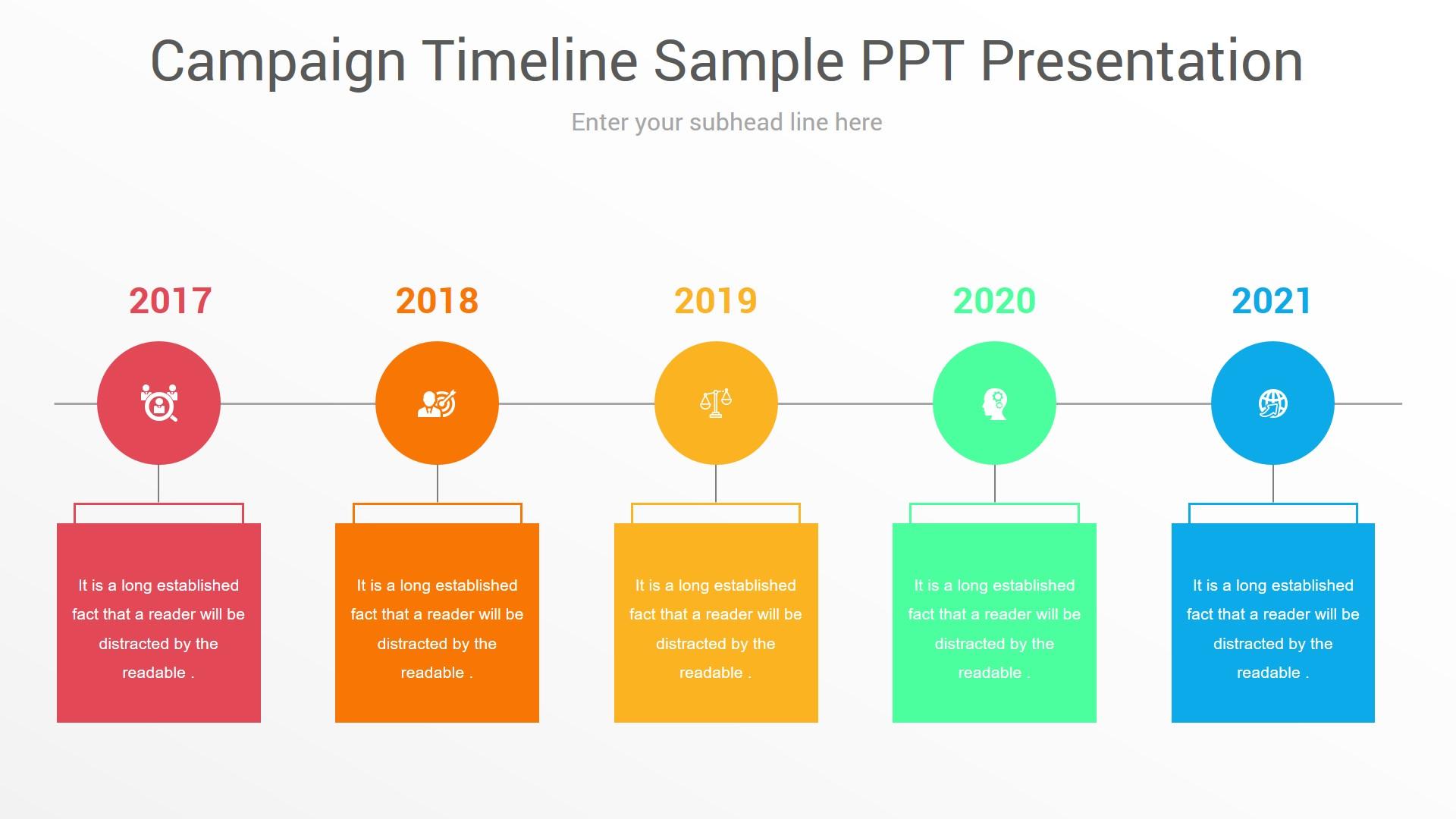 Campaign Timeline Sample PPT Presentation
