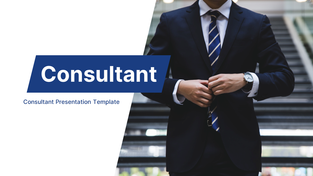 Consultant Finance & Consulting Presentation PowerPoint Template