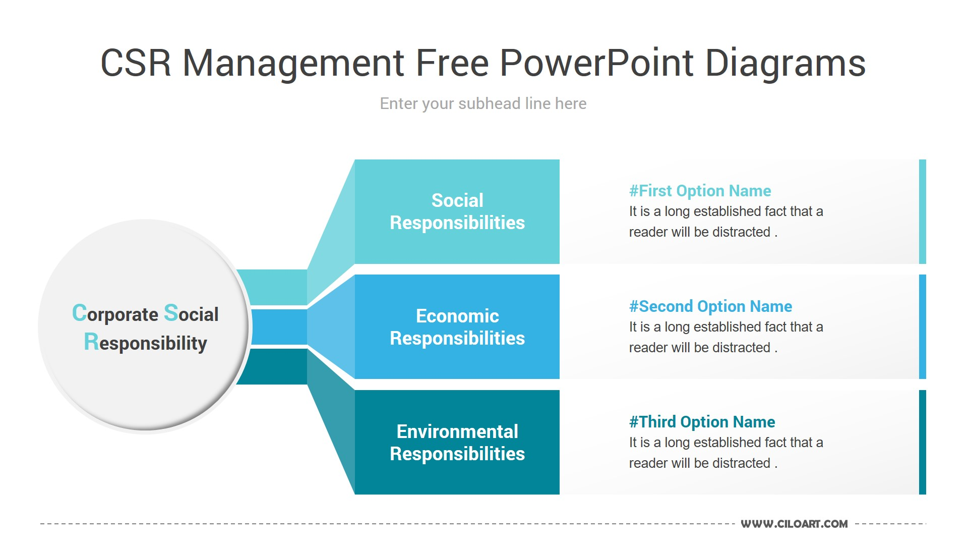 CSR Management Free PowerPoint Diagrams