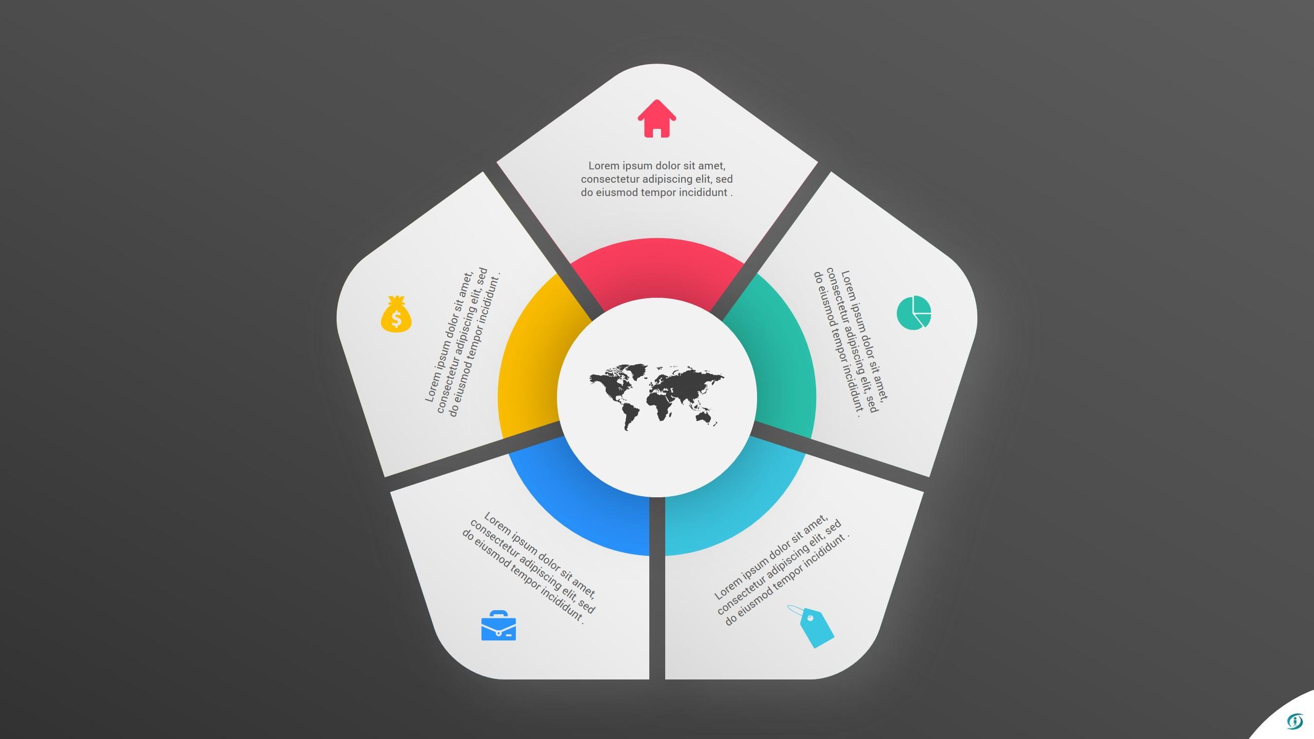 Free Pentagon PowerPoint Infographic