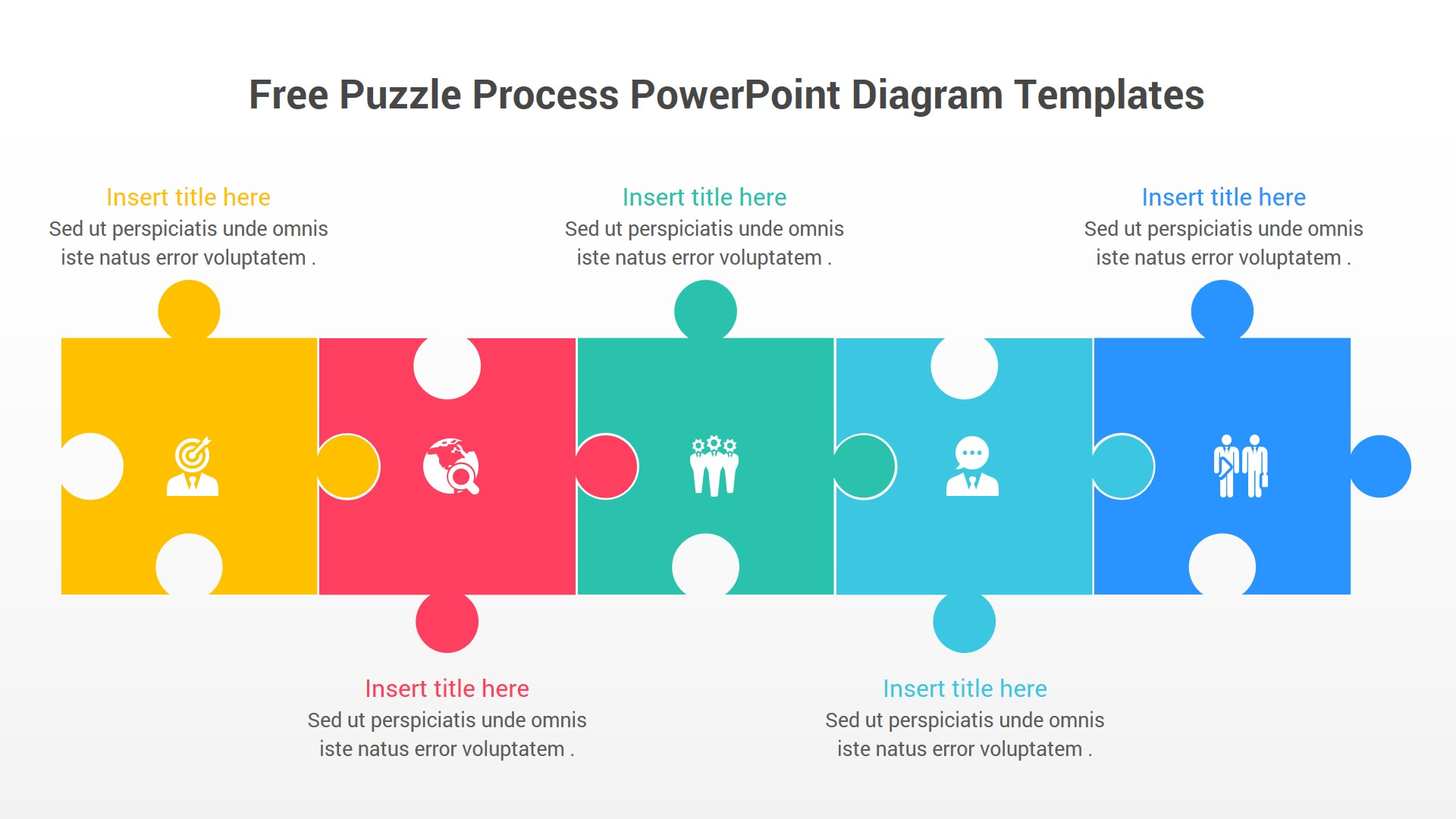 Free Puzzle Process PowerPoint Diagram Template