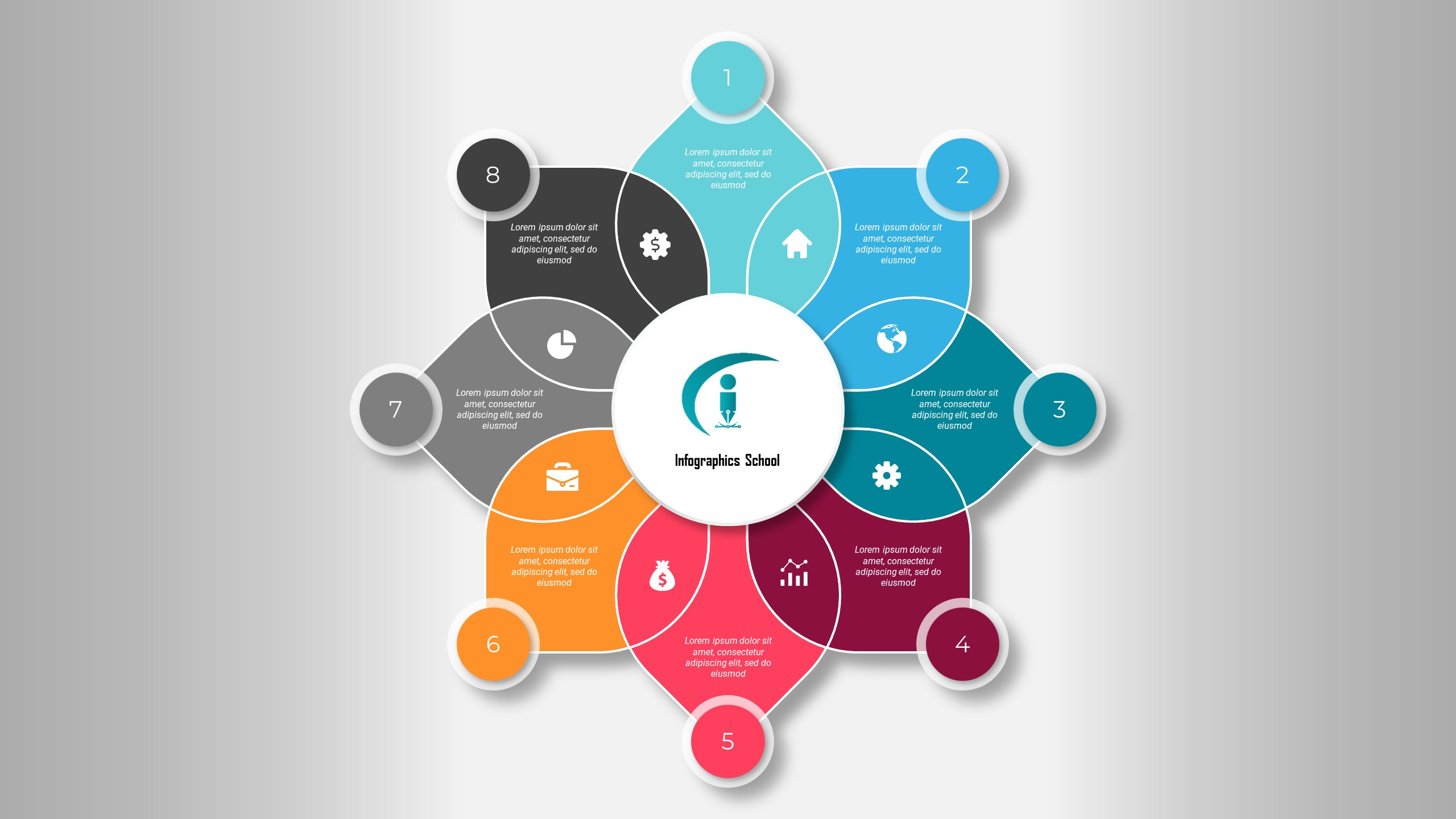Free Simplicity PowerPoint Infographic Template Design