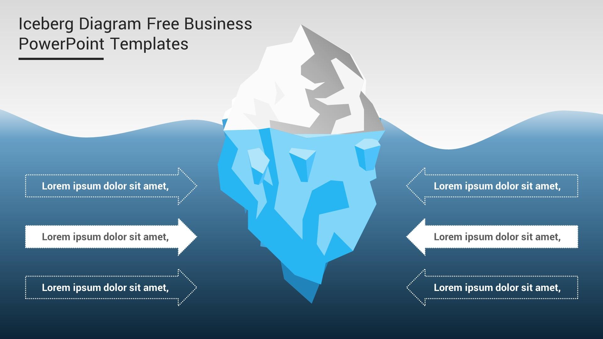 Iceberg Diagram Free Business PowerPoint Templates