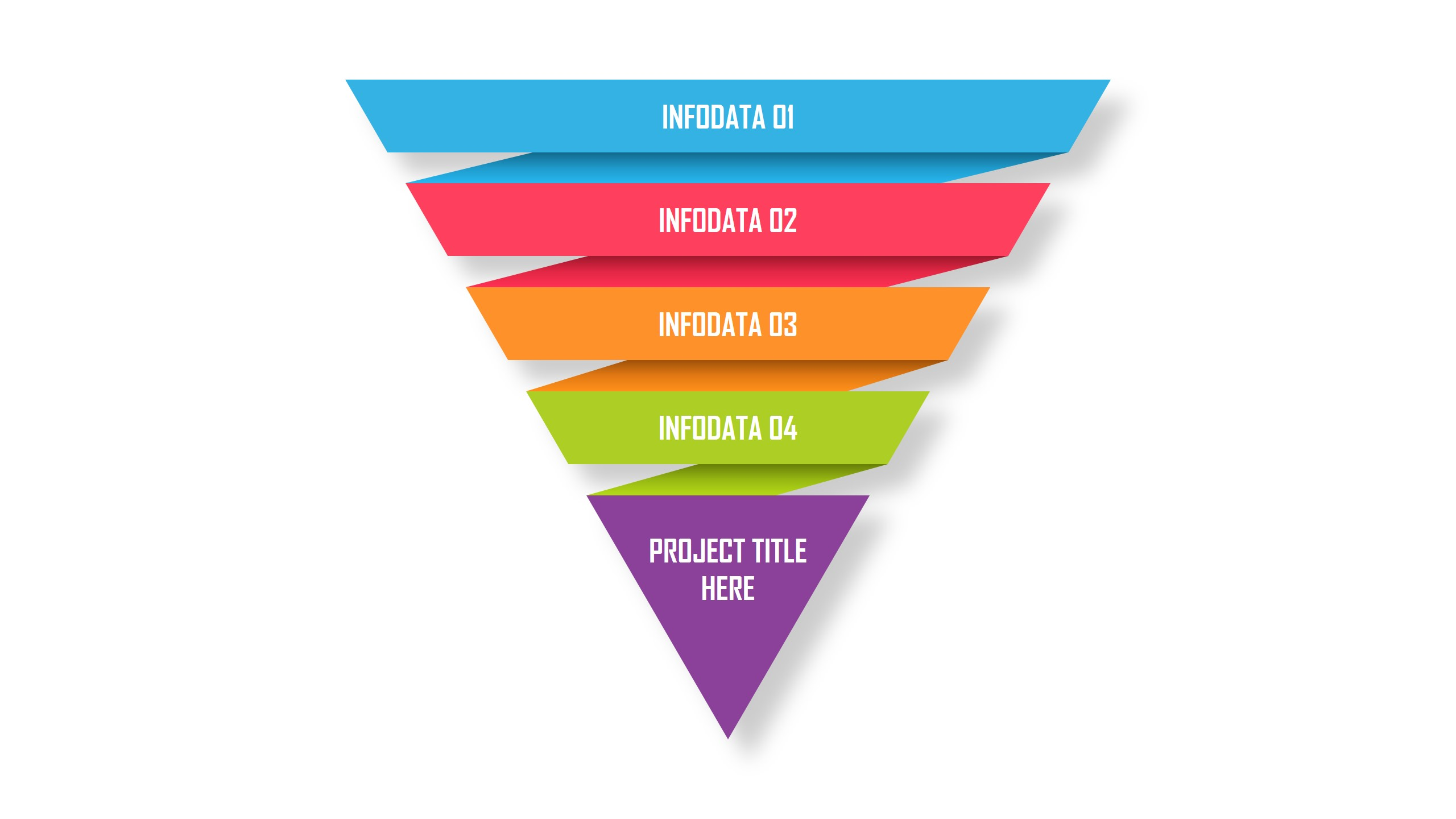 Inverted Pyramid Infographic PowerPoint Template