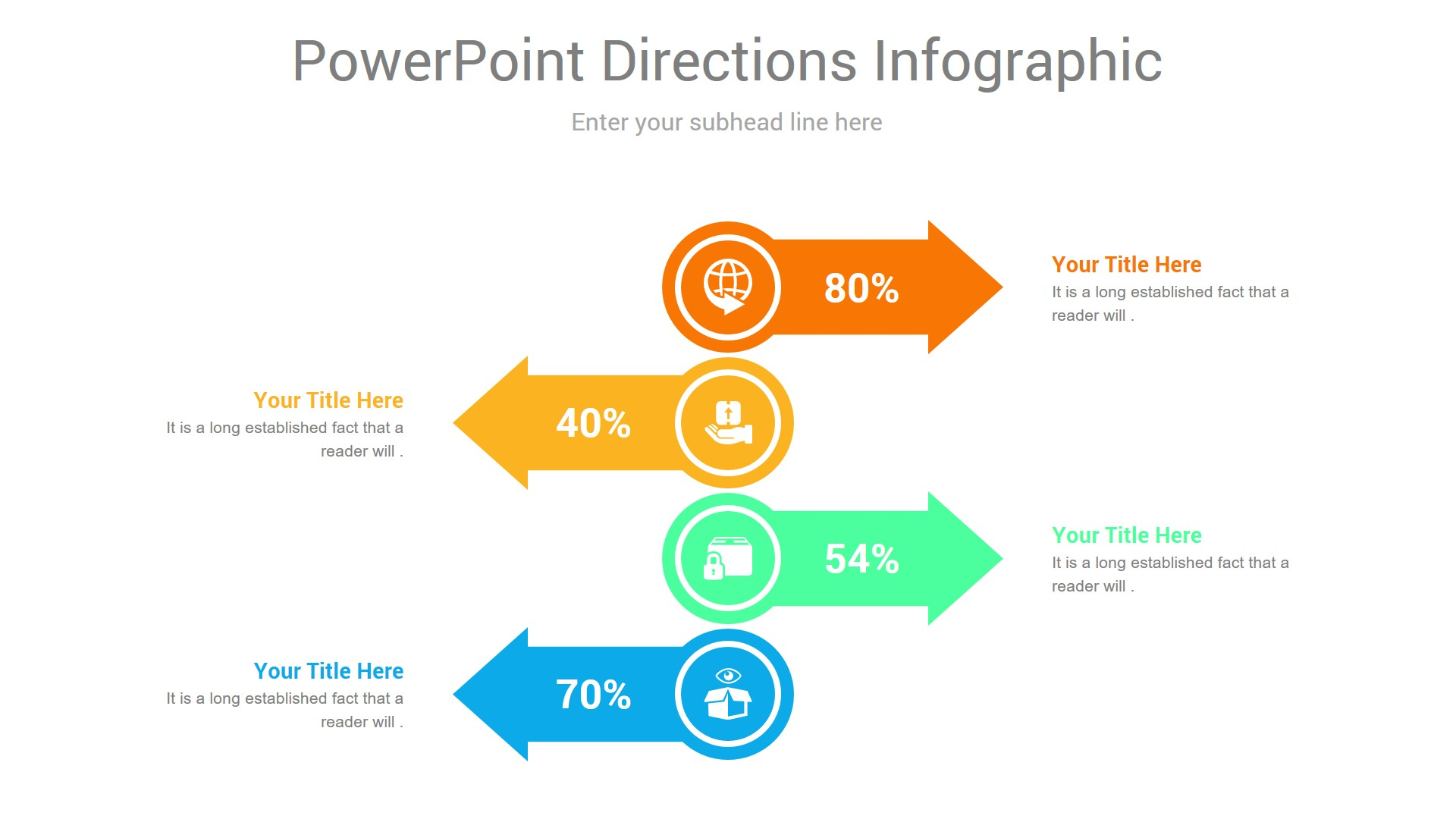 PowerPoint Directions Infographic