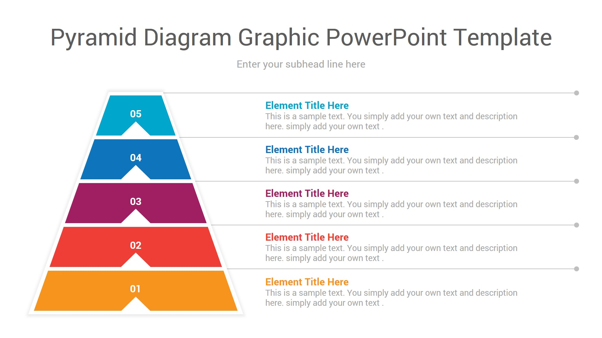 pyramid diagram graphic powerpoint template