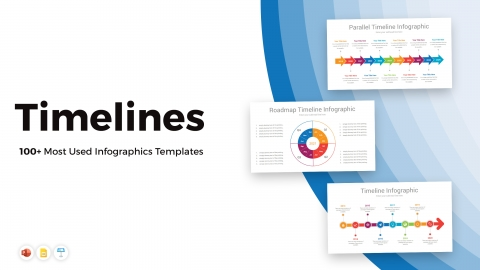 100+ Most Used Timelines PowerPoint Infographics Templates
