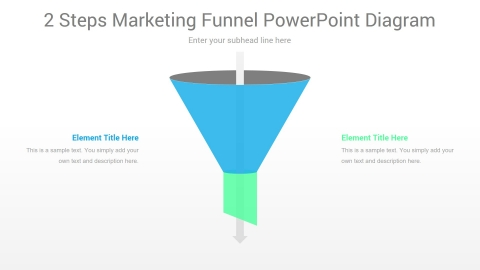 2 Steps Marketing Funnel PowerPoint Diagram