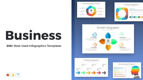 245+ Most Used Business PowerPoint Infographics Templates