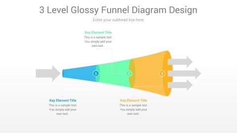 3 Level Glossy Funnel Diagram Design
