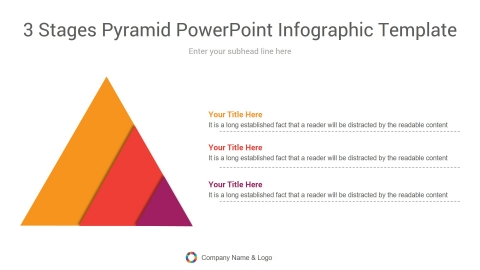 3 stages pyramid powerpoint infographic template