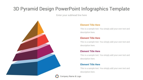 3d pyramid design powerpoint infographics template