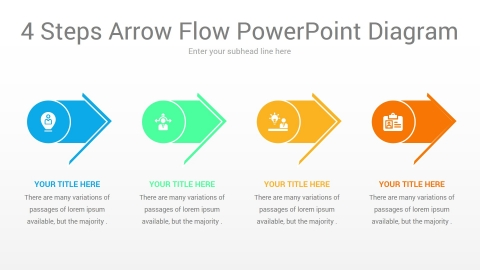 4 steps arrow flow powerpoint diagram