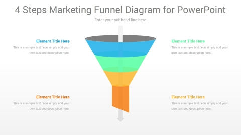 4 Steps Marketing Funnel PowerPoint Diagram