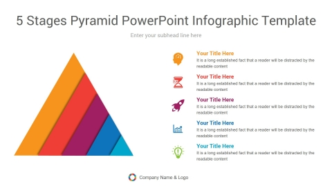 5 stages pyramid powerpoint infographic template
