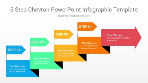 5 step chevron powerpoint infographic template