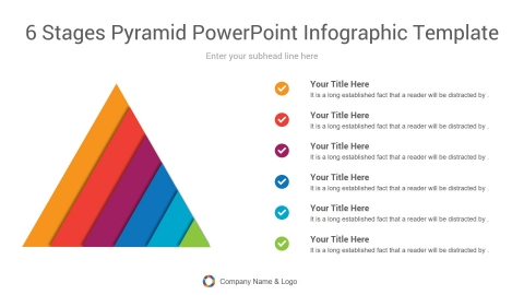 6 stages pyramid powerpoint infographic template