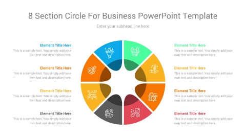 8 Section circle for business powerpoint template
