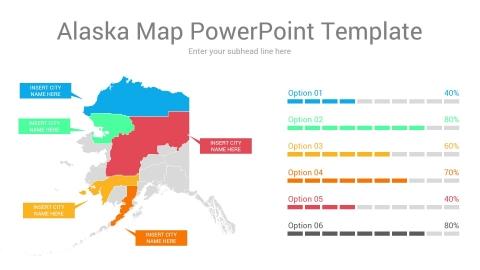 Alaska map powerpoint template