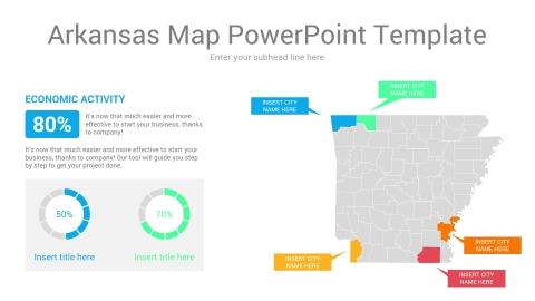 Arkansas map powerpoint template