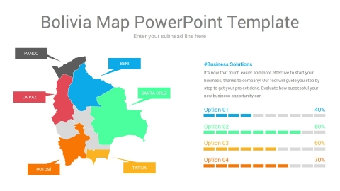 Bolivia map powerpoint template