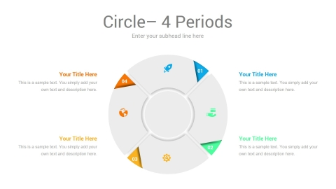 Business Circle Infographic 4 Periods
