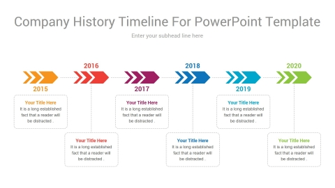 Company History Timeline For PowerPoint Template