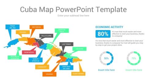 Cuba map powerpoint template