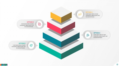 Cube Pyramid Infographic For PowerPoint and Google Slides Templates
