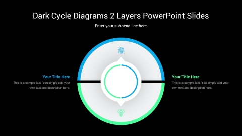 Dark Cycle Diagrams 2 Layers PowerPoint Slides