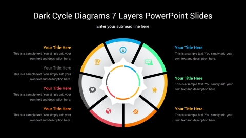 Dark Cycle Diagrams 7 Layers PowerPoint Slides