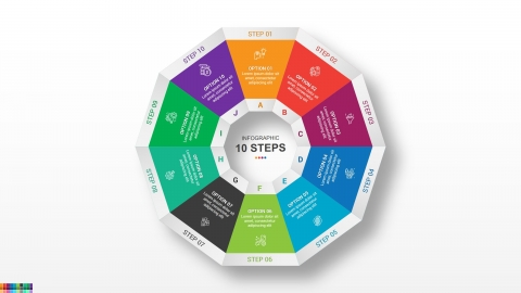 Decagon PowerPoint infographics Free Template