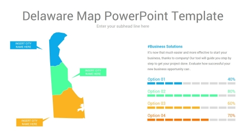 Delaware map powerpoint template