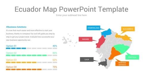 Ecuador map powerpoint template