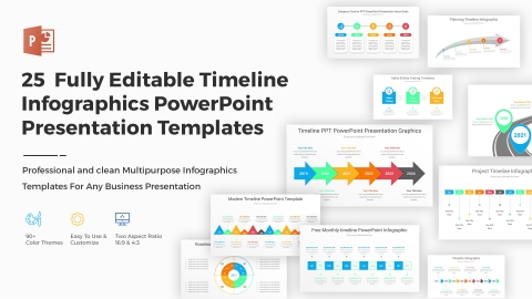 25+ Fully Editable Timeline Infographics PowerPoint PPT Presentation Templates
