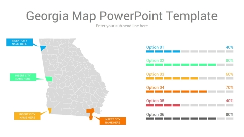 Georgia map powerpoint template