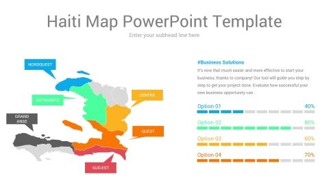 Haiti map powerpoint template
