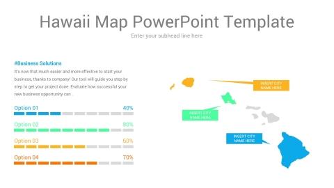 Hawaii map powerpoint template