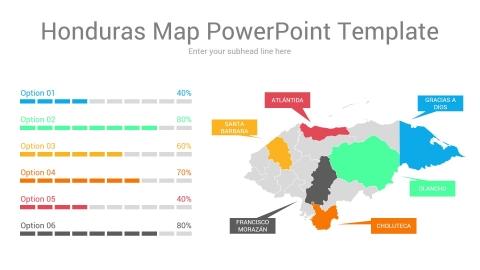 Honduras map powerpoint template