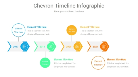 Horizontal Timeline Infographic Template