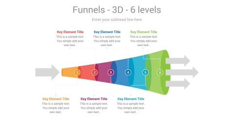 Idea Narrowing Funnel PowerPoint Infographic Slide Introduction